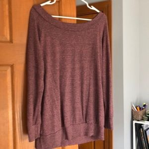Vici Soft Off Shoulder Sweater Tunic large